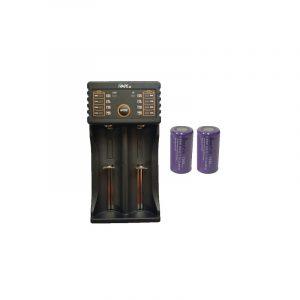 Kit Cargador Dual iVape i2 + 2 Baterías 18350